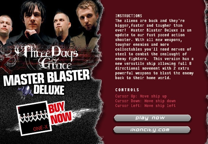 Three Days Grace Master Blaster Deluxe Game