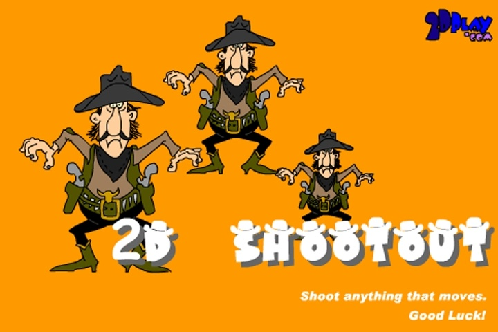 2D Cowboy Shootout Game