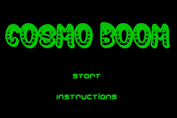 Cosmo Boom Game