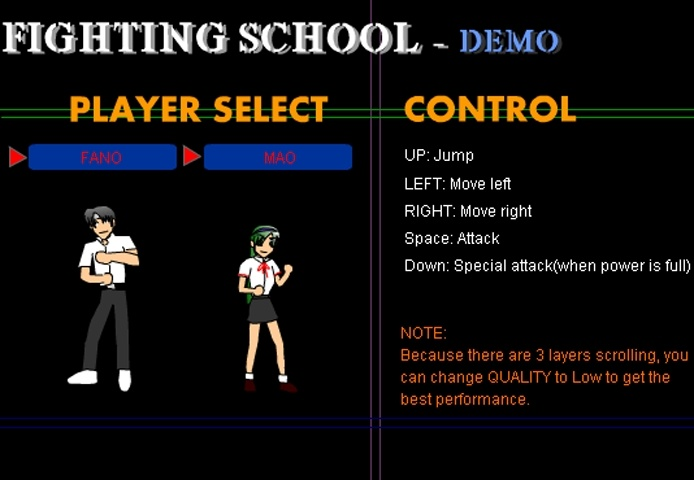 Fighting School Game