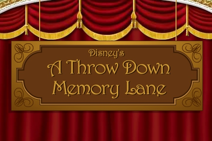 Disney A Throw Down Memory Lane Game