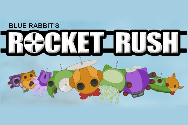 Blue Rabbit's Rocket Rush Game