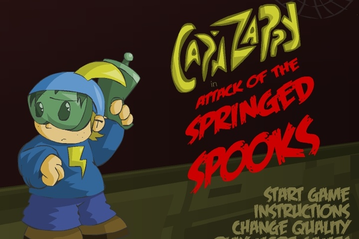 Cap'n Zappy in Attack of the Springed Spooks Game