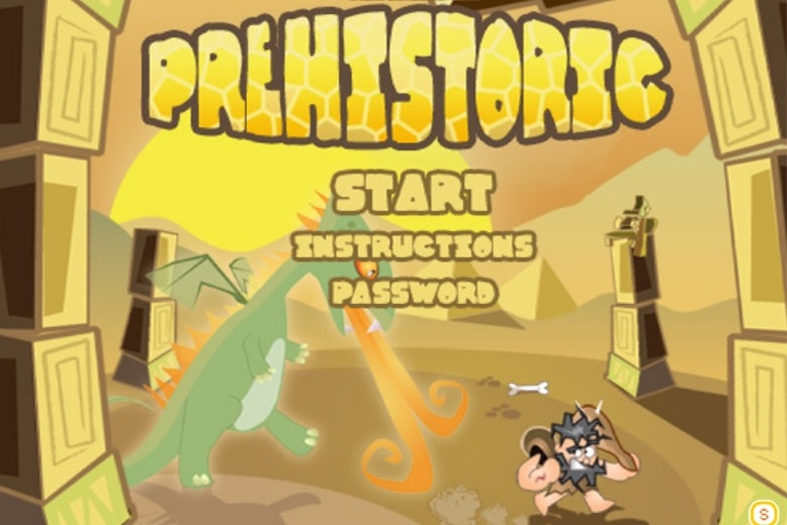Caveman in Prehistoric Game