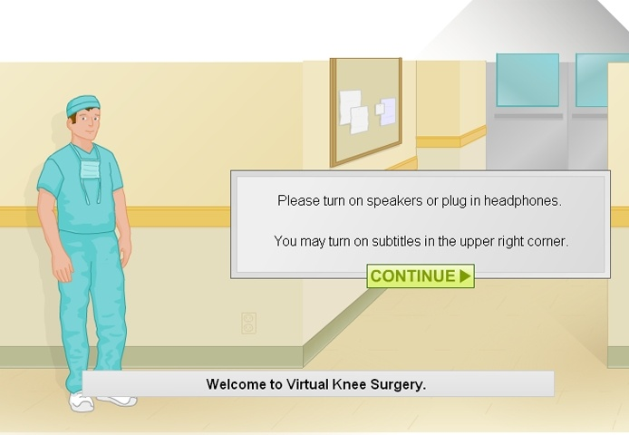 Virtual Knee Surgery Game