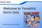 Sonic Quiz 1 game free online