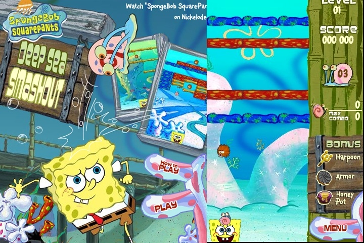 Sponge Bob Square Pants Deep Sea Smashout Game