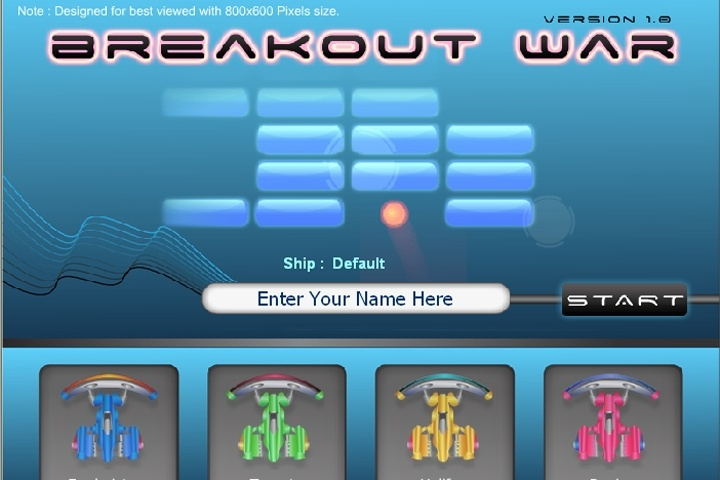 Breakout Wars Game