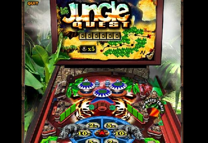Jungle Quest Pinball Game