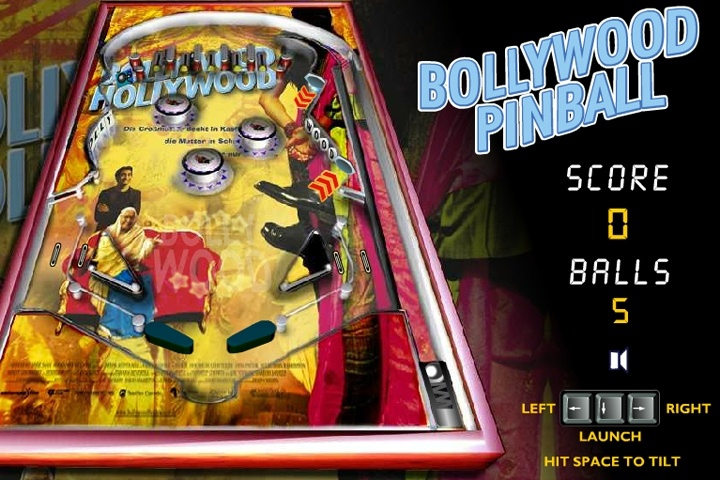 Bollywoord Pinball Game