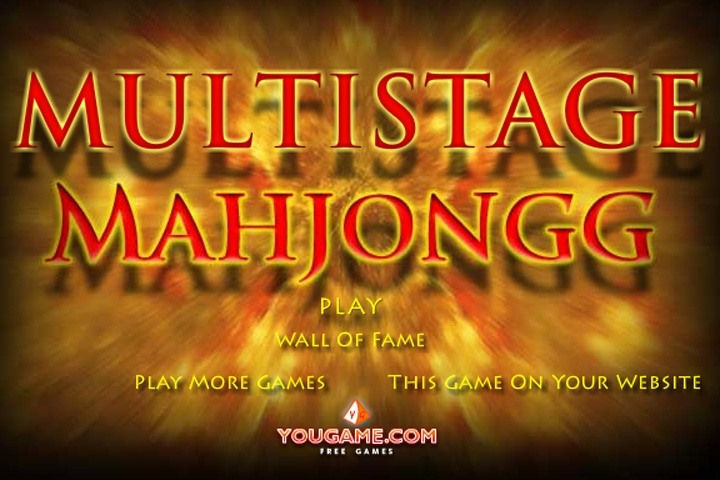 Multistage Mahjong Solitaire Game