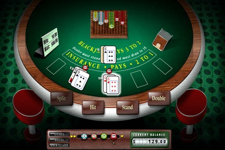 Blackjack 3D 2000 Game
