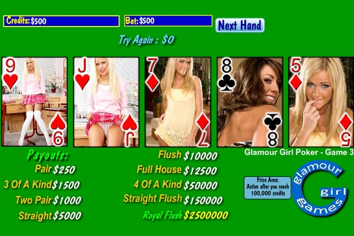 Glamour Girl Poker Deck 3 Game