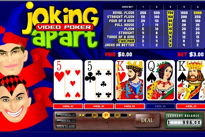 Free video poker online games