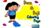 Dora The Explorer & Buji Coloring Page