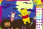 Piglet And Winnie The Pooh Halloween Coloring game free online