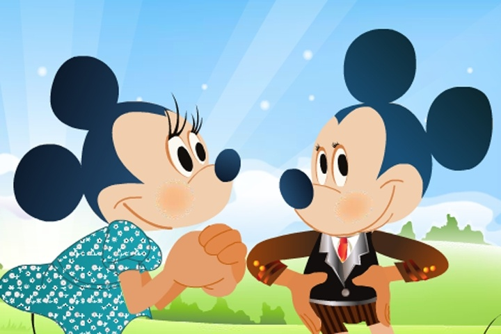 Mickey & Minnie Mouse Dress Up Game