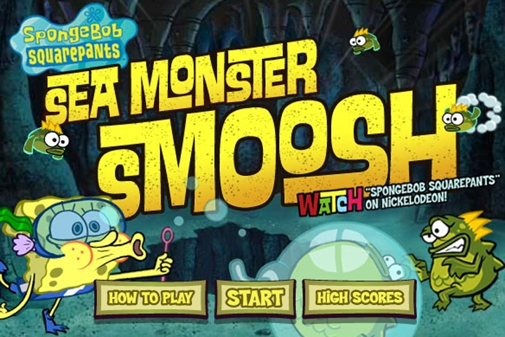 Spongebob Sea Monster Smoosh Game