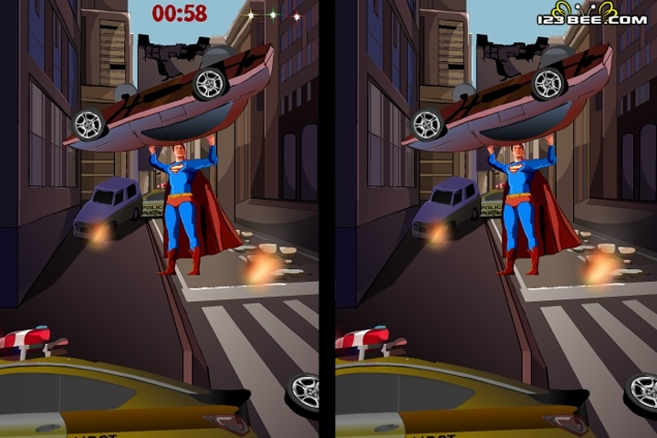 Find The Difference - 6 Superman Game