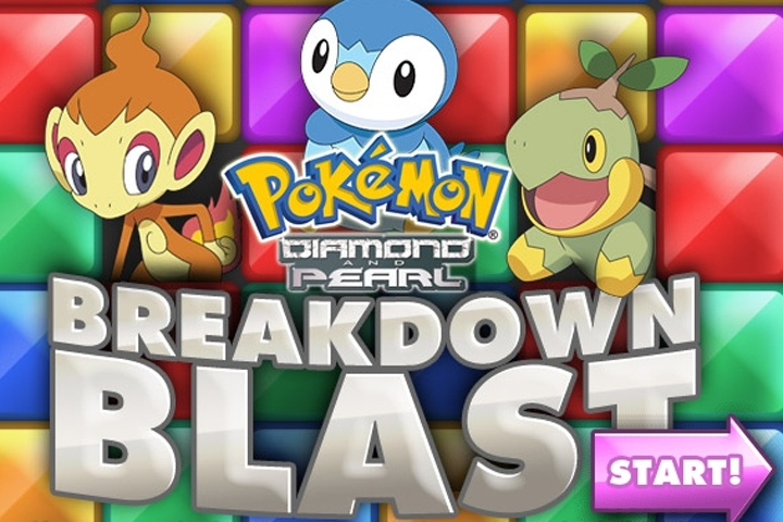Pokemon Diamond and Pearl Break Down Blast Game
