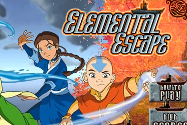 Avatar the last Airbender Elemental Escape Game