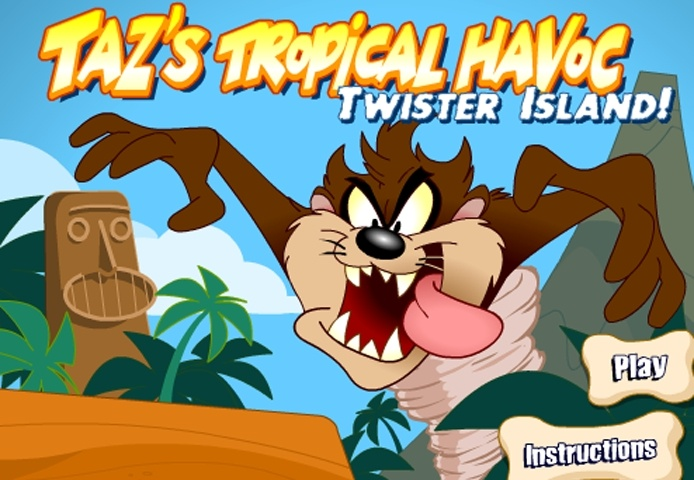 Tazs Tropical Havoc Twister Island Game