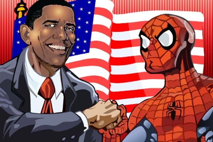 Sort My Tiles Obama and Spiderman Game