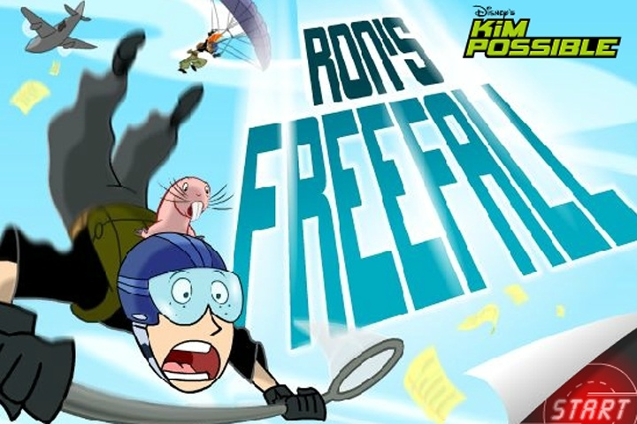 Kim Possible Ron's Freefall Game