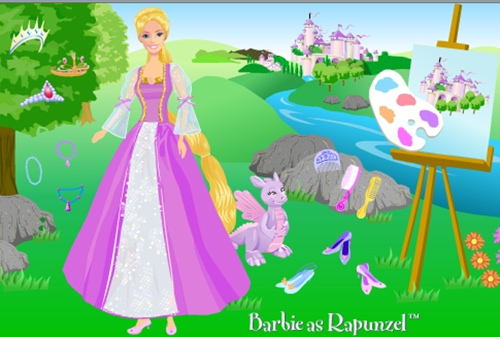 Barbie As Rapunzel Dress Up Game