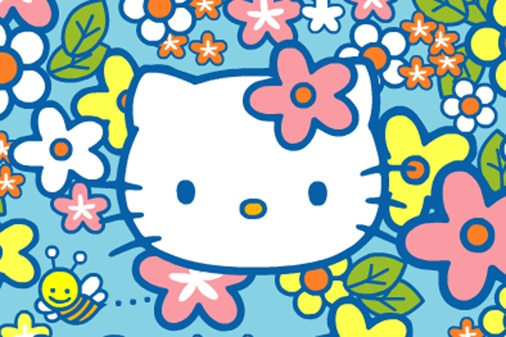 hello kitty bees in my garden game hello kitty games. Black Bedroom Furniture Sets. Home Design Ideas