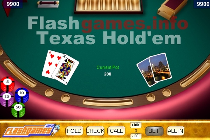 Flash Texas Hold'em Game