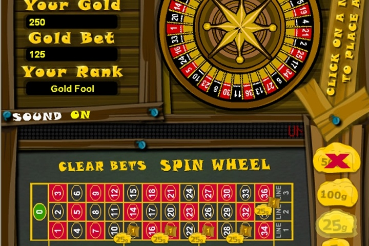 GoldRush Roulette Game