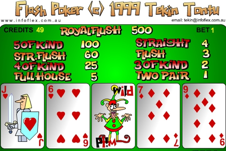 free flash poker