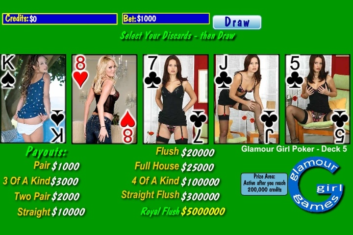 Glamour Poker Deck 5 Game