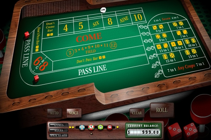3D Craps Table Game