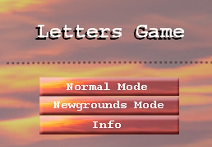Letters Game Game