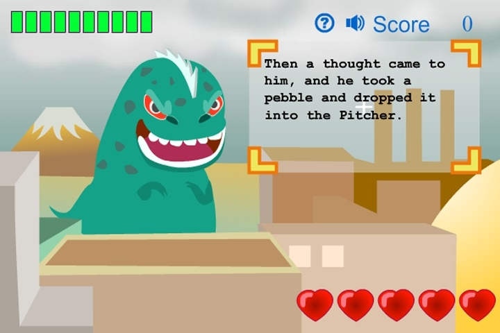 Typing Monster Game