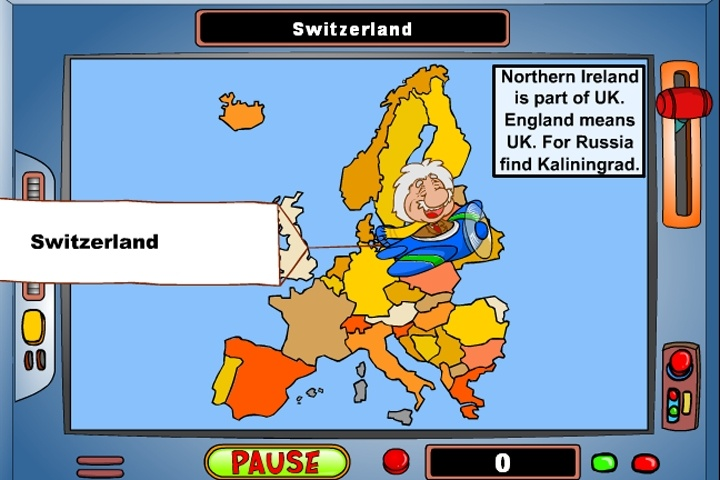 Geography Game Europe Game