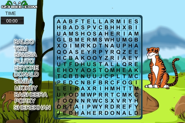 Word Search Disney Game