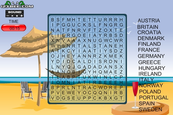 Word Search Gameplay 7 Europe Game