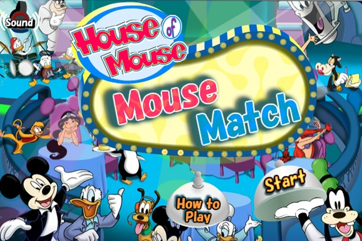 House Of Mouse Mouse Match Game
