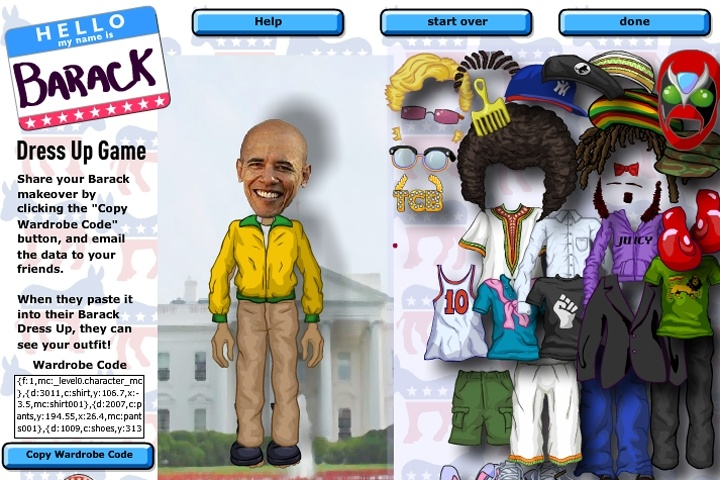 Dress Up Barack Game