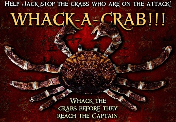 Pirates Of The Caribbean Whack A Crab Game
