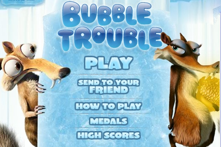 Ice Age Bubble Trouble Game