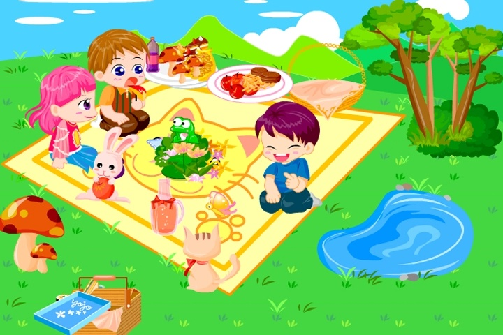 Picnic Garden Game Decorating games Games Loon