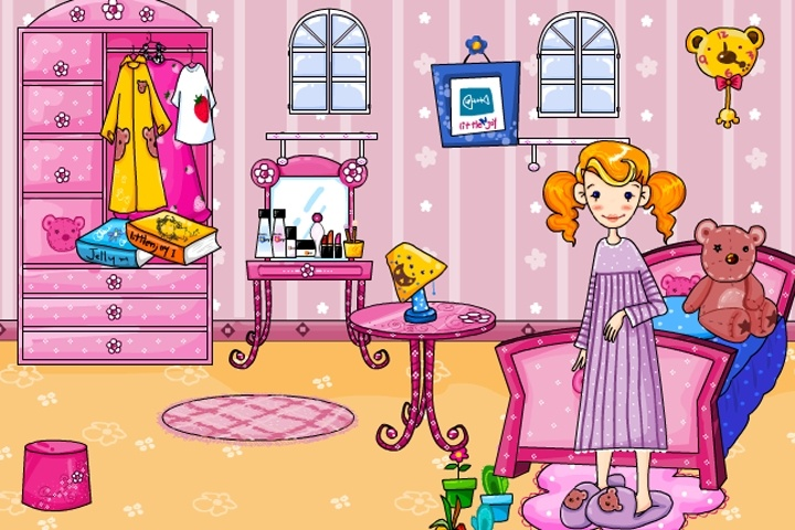 Pink Bedroom Make Over Game - Play Free Decorating games ...