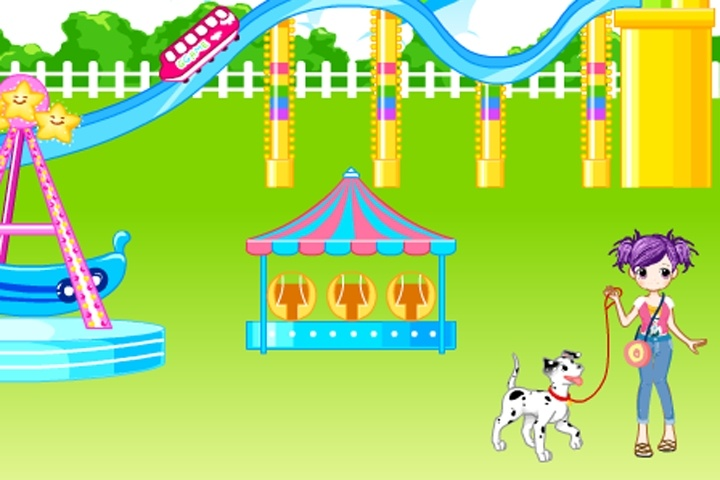 Amusement park decoration game decorating games games loon for Amusement park decoration ideas