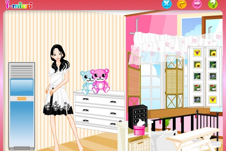 Cosy room decorating puzzle game decorating games for Baby room decoration games free online