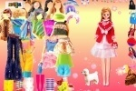 Dress Up Barbie And Dog game free online