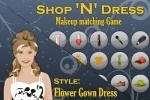 Flower Gown Dress Matching game free online